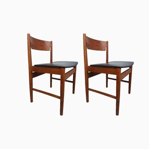 Mid-Century Danish Teak Dining Chairs, 1970s, Set of 2