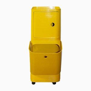 Modularer gelber Rollwagen von Anna Castelli Ferrieri für Kartell, 1970er