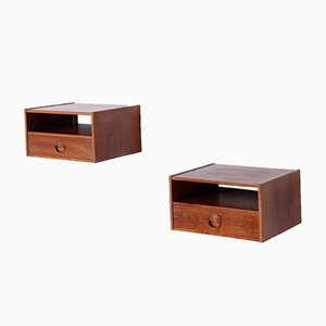 Danish Rosewood Wall Consoles by William Watting for Fristho, 1950s, Set of 2