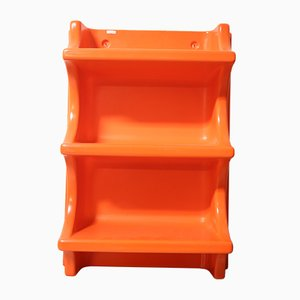 Space Age Orange Wall Rack, 1970s