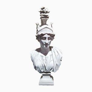 Goddess Roma Marmorbüste von Arts and Commerce für P. Byatiste, 1980er