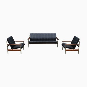 Rosewood 1001 AX Living Room Set by Sven Ivar Dysthe for Dokka Møbler, 1950s