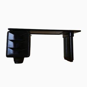Schwarzer Jet Schreibtisch, 1960er