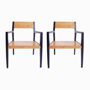 Swiss Visitor Armchairs by Horgen Glarus, 1950s, Set of 2