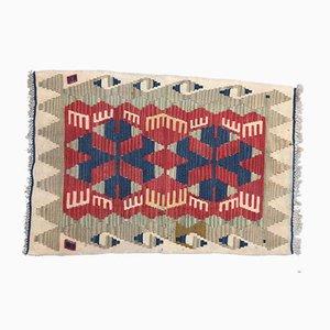 Tappeto Kilim vintage in lana, Turchia, anni '80