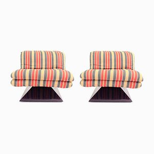 Space Age Lounge Chairs, 1970s, Set of 2
