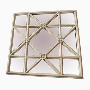 Espejo de ventana Astra antiguo escocés de esmalte