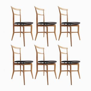 Dining Chairs by Ico Parisi for La Permanente Mobili Cantù, 1950s, Set of 6