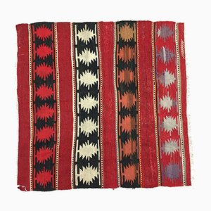 Red and Black Turkish Kilim Rug, 1940s