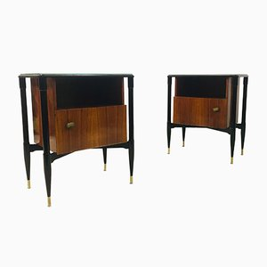 Mid-Century Italian Bedside Tables, 1950s, Set of 2