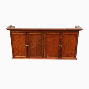 Pine 4-Door Wall Cabinet, 1940s