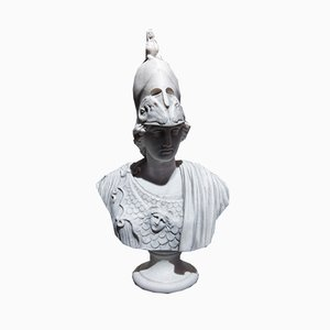 Goddess Athena Marble Bust from Sculptured Arts Studio, 1980s