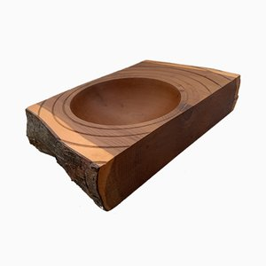 Vintage Handmade Scandinavian Wooden Bowl, 1960s