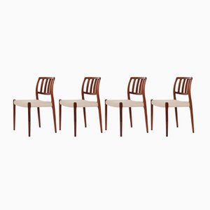 No. 66 Rosewood Chairs by Niels Otto Møller for J.L. Møllers, 1970s, Set of 4
