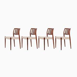 Nr. 66 Stühle aus Palisander von Niels Otto Møller für J.L. Møllers, 1970er, 4er Set