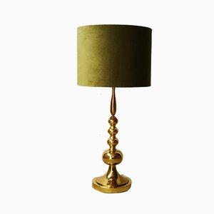 Lámpara de mesa dorada de Gebr. Leclaire & Schäfer, años 70