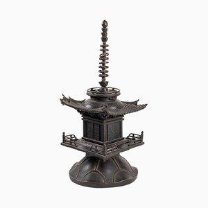 Kleiner chinesischer Tempel aus Bronze, 1880er