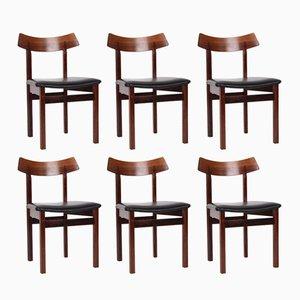 Dänische Stühle aus Palisander, 1960er, 6er Set