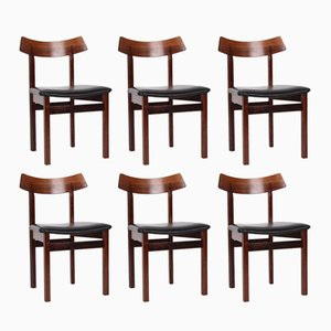 Danish Rosewood Chairs, 1960s, Set of 6