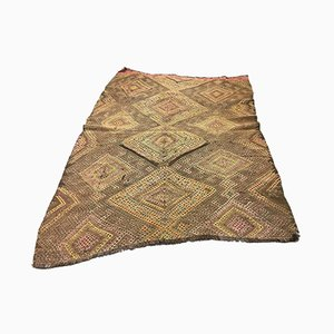 Vintage Turkish Brown Kilim Rug, 1960s
