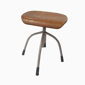 Vintage German Four-Legged Adjustable Stool, 1950s