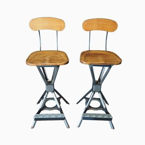 Vintage Industrial Style Bar Stool, 1980s