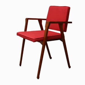 Model Luisa Red Rosewood Dining Chair by Franco Albini for Poggi, 1950s