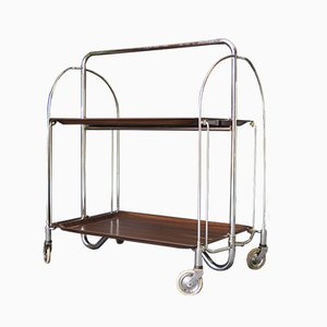 Collapsible Rosewood Tea Trolley from Gerlinol, 1950s