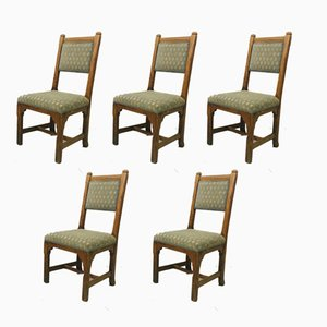 Antique Oak Chairs from Howard and Sons, Set of 5