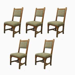 Chaises Antiques en Chêne de Howard and Sons, Set de 5