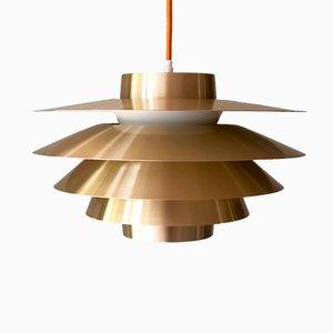 Lámpara colgante Verona de latón de Svend Middelboe para Nordisk Solar, años 60