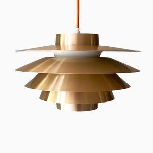 Verona Brass Pendant Light by Svend Middelboe for Nordisk Solar, 1960s