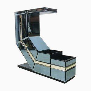 Consola italiana vintage de vidrio coloreado, años 80