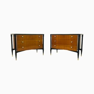 Mid-Century Italian Mahogany Chests Of Drawers, 1950s, Set of 2