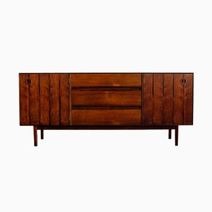 Mid-Century Walnut and Rosewood Sideboard by Paul Browning for Stanley Distinctive Furniture, 1960s