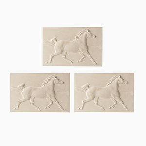 Vintage Plaster Arab Horses by Jochen Ihle, 1974, Set of 3