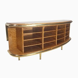 Vintage Hollywood Regency Walnut Sideboard, 1980s
