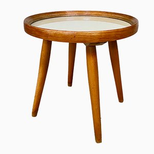 Deutscher Mid-Century Beistelltisch aus Keramik & Holz, 1950er