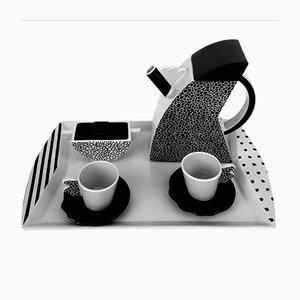 Servizio da caffè postmoderno di Studio Lampo per Arte Ceramica Romana, anni '70