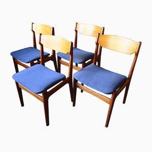 Sedie da pranzo in teak di Erik Buch, Danimarca, anni '60, set di 4