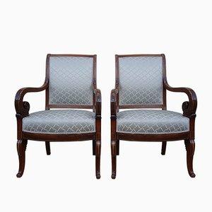 Antike Charles X Stühle aus Palisander von Jeanselme, 2er Set