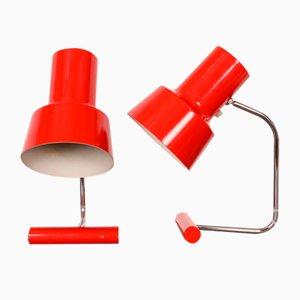 Lampes de Bureau par Josef Hurka pour Napako, 1970s, Set de 2