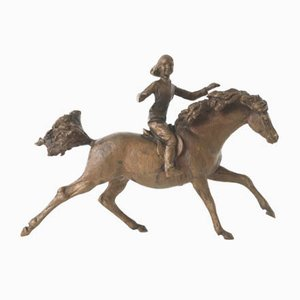 Vintage Bronze Galloping Pony Sculpture by Jochen Ihle, 1970s