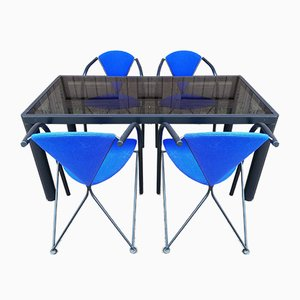 Modernist Dining Table & Chairs Set by Kho Liang Le for Artifort, 1970s