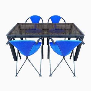 Tavolo da pranzo modernista con sedie di Kho Liang Le per Artifort, anni '70