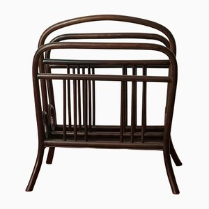 Art Nouveau Model 33 Mahogany Magazine Rack by Michael Thonet for Thonet