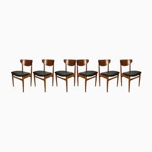 Chaises de Salle à Manger Mid-Century, Danemark, 1960s, Set de 6