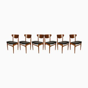 Mid-Century Danish Dining Chairs, 1960s, Set of 6