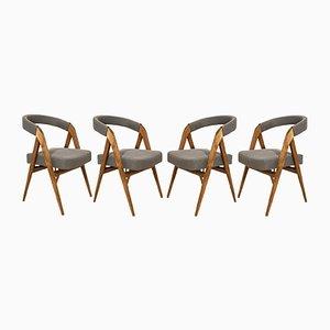 Mid-Century Danish Dining Chairs, 1960s, Set of 4