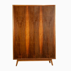 Vintage Ash & Walnut Wardrobe by Bohumil Landsman for Jitona, 1960s